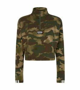 Camouflage Half-Zip Sweater