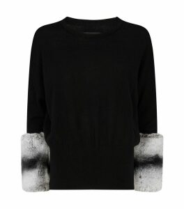 Wool-Cashmere Rabbit Fur Sweater