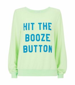 Slogan Button Sweatshirt