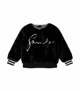 Logo Faux Fur Sweatshirt