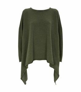 Cashmere Asymmetric Hem Sweater