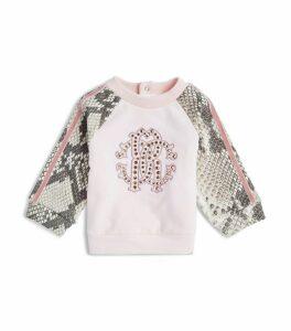 Diamanté-Embellished Logo Sweatshirt