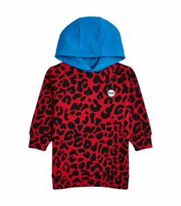 Leopard Print Hooded Sweatshirt