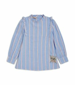 Striped Ruffled Shirt