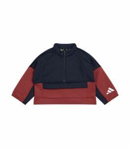 Colour-Block Zip-Up Sweatshirt