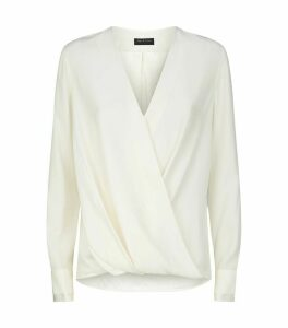 Silk Victor Long-Sleeved Blouse