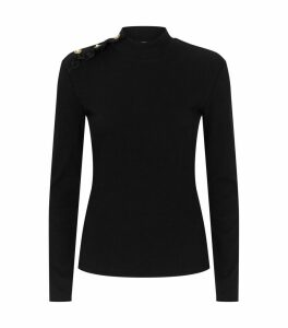 Buttoned Shoulder Sweater