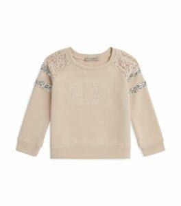 Lace Logo Sweatshirt
