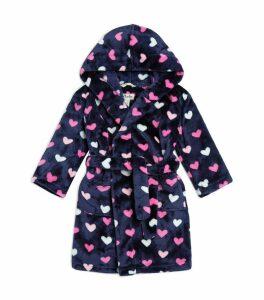 Lovey Hearts Fleece Robe