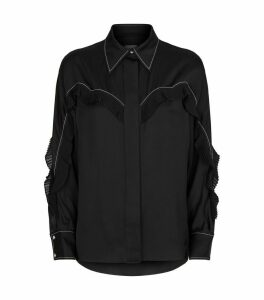 Pleated-Trim Shirt
