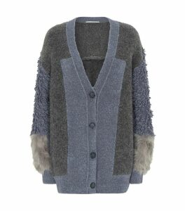 Patchwork Knitted Cardigan