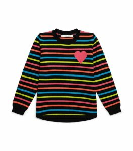Heart Stripe Cashmere Sweater