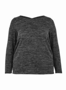 Womens **Dp Curve Grey Brushed Top, Grey