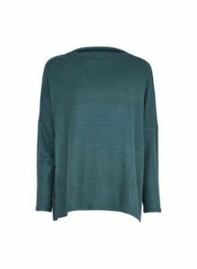 Womens **Only Green High Neck Jumper, Green