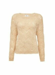 Womens **Only Neutral Knitted Jumper- White, White