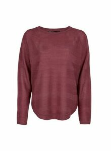 Womens **Only Wine Red Fine Gauge Jumper- Red, Red