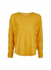 Womens **Only Yellow Knit Jumper, Yellow
