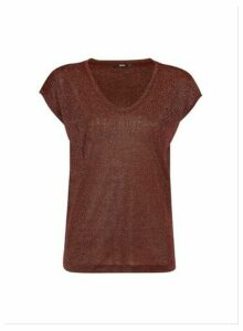 Womens **Only Red Short Sleeve Top, Red