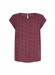 Womens Only Multi Coloured Tile Print Top, Multi Colour
