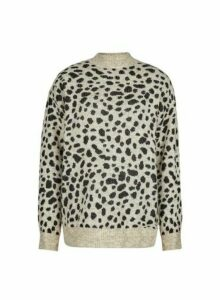 Womens Tall Multi Coloured Cheetah Print Spandex Jumper - Animal, Animal