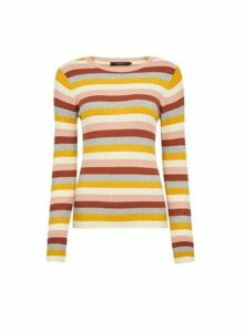 Womens Vero Moda Multi Coloured Stripe Print Pull On Jumper - Pink, Pink
