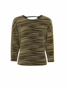 Womens Gold Batwing Sleeve Top, Gold