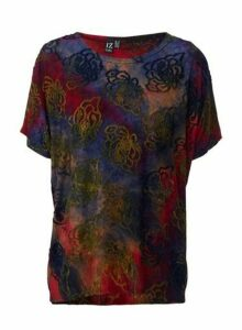 Womens *Izabel London Multi Coloured Abstract Print T-Shirt, Red