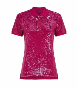Sequin-Embellished Polo Shirt