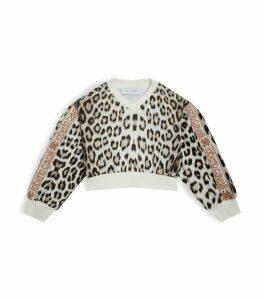 Leopard Print V-Neck Sweatshirt