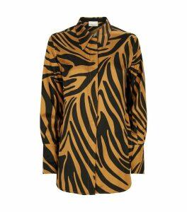 Silk Zebra Print Shirt
