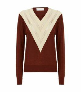 Perforated-Trim Sweater