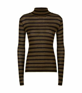 Esme Metallic Stripe Rollneck Top