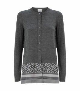 Wool Monogram Scarf Cardigan