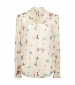 Silk Leonetta Butterfly Blouse