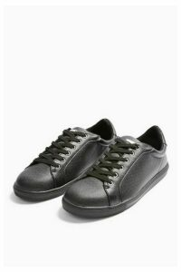 Womens **Wide Fit Cola Black Trainers - Black, Black