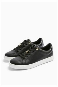 Womens Cabo Black Lace Up Trainers - Black, Black