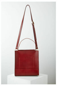 D Foster x Anthropologie Eleanor Croc-Effect Leather Tote Bag - Red