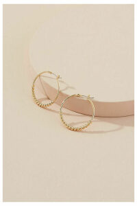 Chunky Twisted Hoops - Gold
