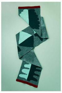 Morrie Wool Scarf - Green