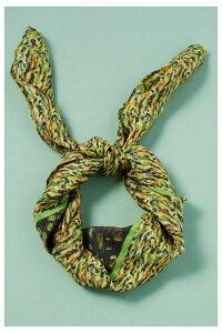 Floral-Print Silk Scarf - Green