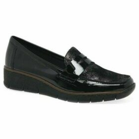 Rieker  Glisten Womens Casual Shoes  women's Loafers / Casual Shoes in Black