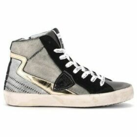 Philippe Model Paris  Paris high-top sneaker made of anthracite-colored laminated  women's Shoes (High-top Trainers) in Grey