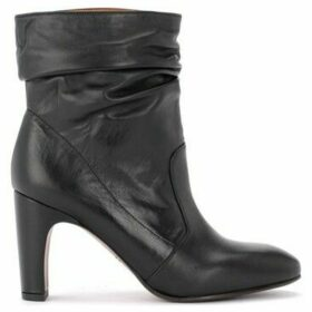 Chie Mihara  Evil ankle boot in black suede leather  women's Low Ankle Boots in Black
