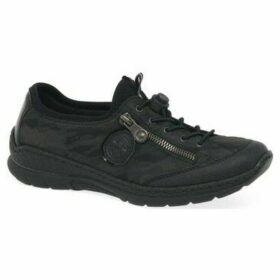 Rieker  True Womens Casual Lace Up Shoes  women's Shoes (Trainers) in Black