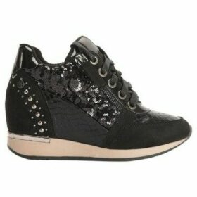 Xti  Compensated basketball  women's Shoes (Trainers) in Black
