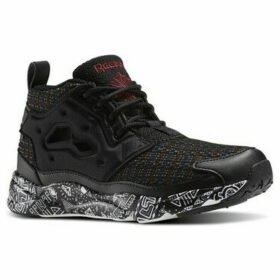 Reebok Sport  Furylite Chukka Afr Blackwhtmerlotgrn  women's Shoes (High-top Trainers) in multicolour