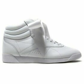 Reebok Sport  Freestyle High Satin Bow  women's Shoes (High-top Trainers) in White