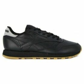 Reebok Sport  Classic Lthr Met Diamond  women's Shoes (Trainers) in Black