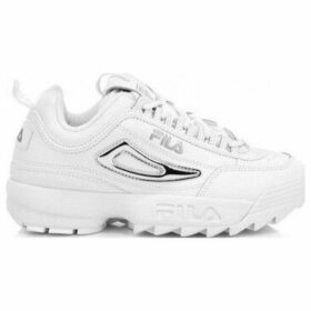 Fila  Disruptor II Metallic Accent Trainers  women's Shoes (Trainers) in White