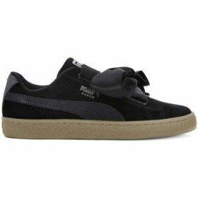 Puma  Basket Heart Safari  women's Shoes (Trainers) in Black
